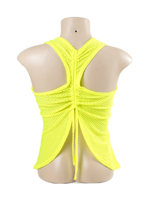 Mesh Fitness Top with Tie