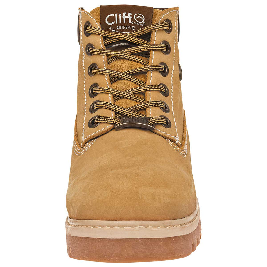 Cliff. Zapato industrial para hombre color camel