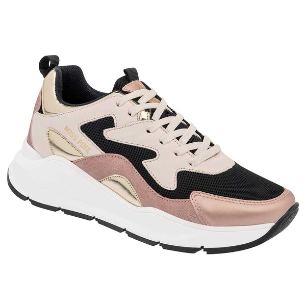 Miss Pink Tenis Casual con Plataforma para Mujer