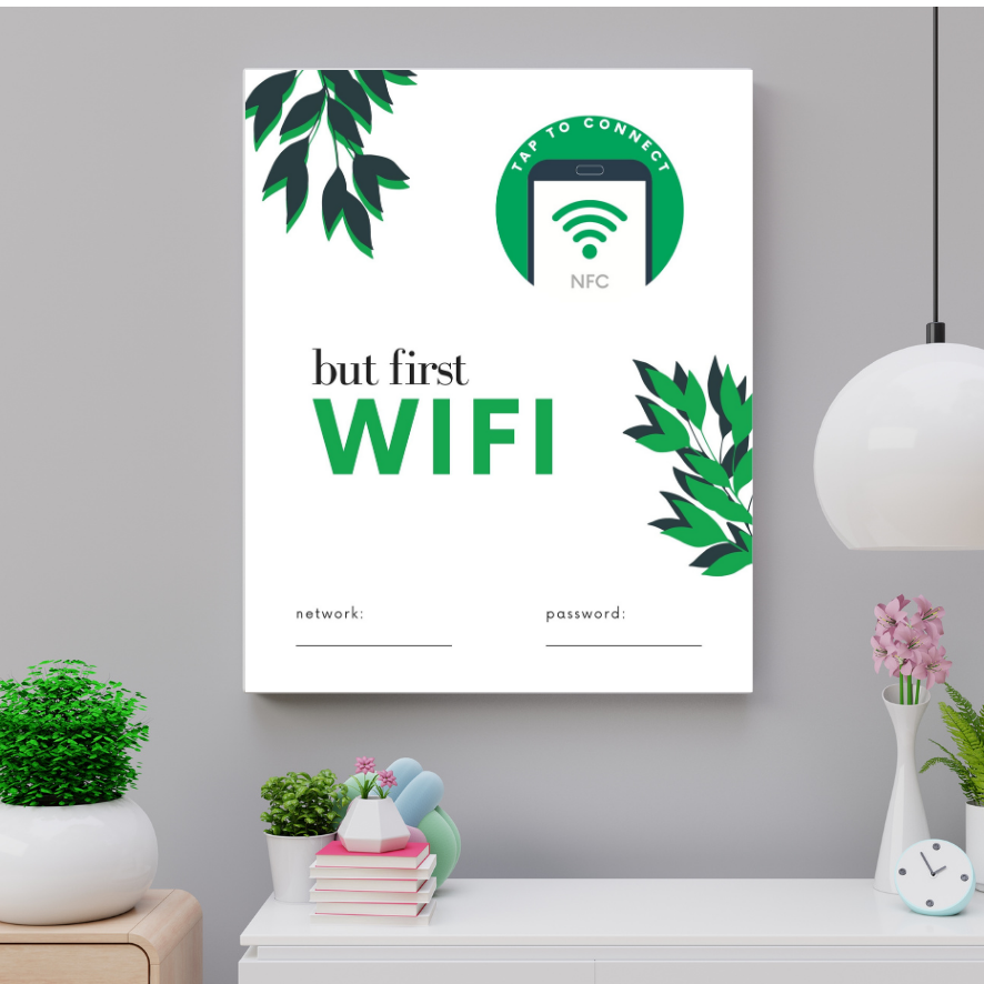 Guest WiFi NFC Wall / Desk Frame