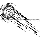 Sports Car Racing Motion ClipArt SVG