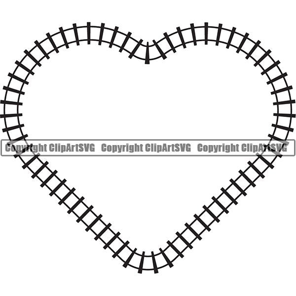 Locomotive Train Track Design Element  Black Heart.jpg