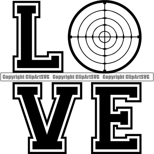 Military Weapon Gun Love ClipArt SVG