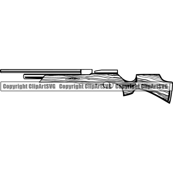 Military Weapon Gun Shotgun ClipArt SVG