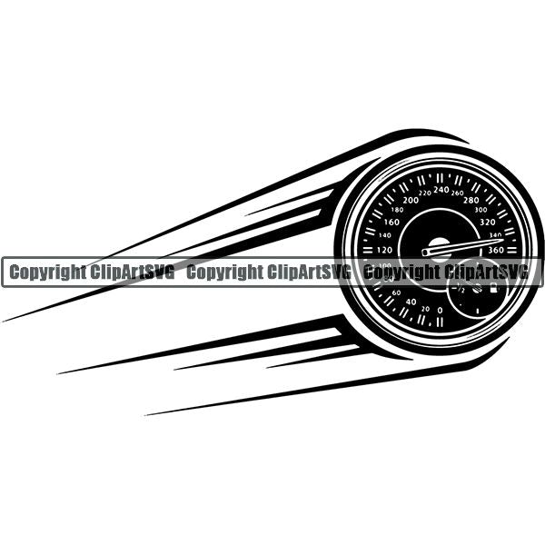 Sports Car Racing Guage Motion ClipArt SVG