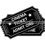 Acting Actor Movie Performer Performance Movie Tickets ClipArt SVG