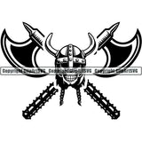 Viking Warrior Logo ClipArt SVG