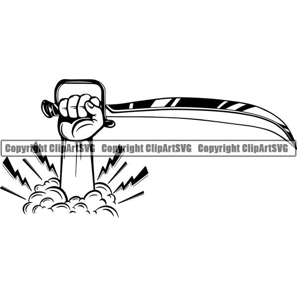Pirate Sea Gangster Criminal Warrior Sword ClipArt SVG