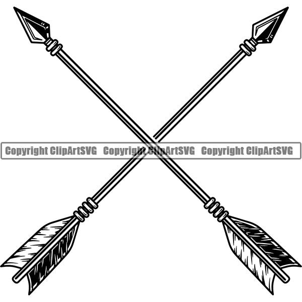 Native American Indian Arrow ClipArt SVG