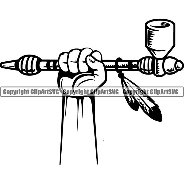 Native American Indian Pipe Peace ClipArt SVG