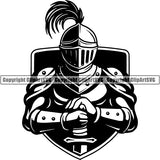 Knight Gladiator Medieval Warrior Sword ClipArt SVG