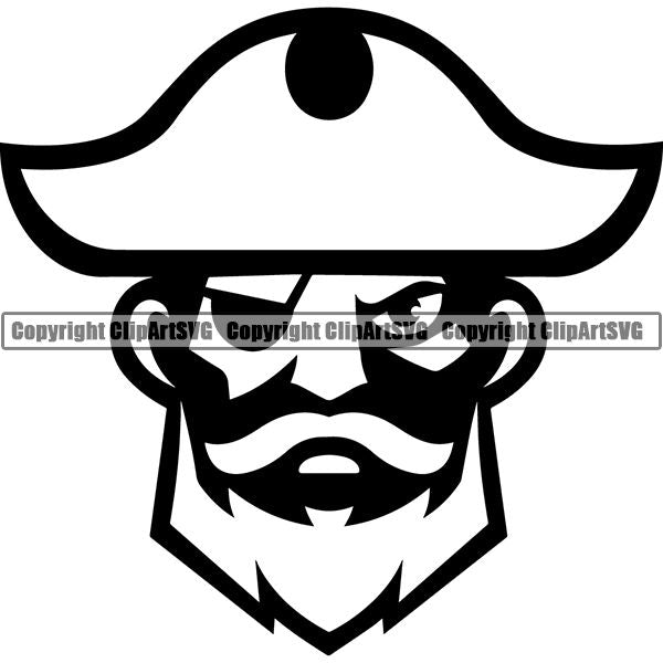 Pirate Sea Gangster Criminal Warrior ClipArt SVG