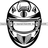 Motorcycle Sports Racing Helmet ClipArt SVG