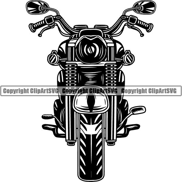 Motorcycle Bike Chopper Motorcycle ClipArt SVG
