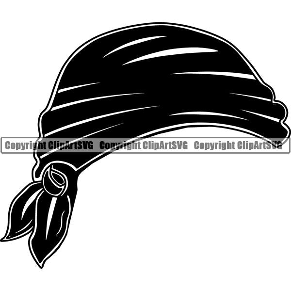 Pirate Sea Gangster Criminal Warrior Hat ClipArt SVG