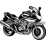 Motorcycle Superbike ClipArt SVG