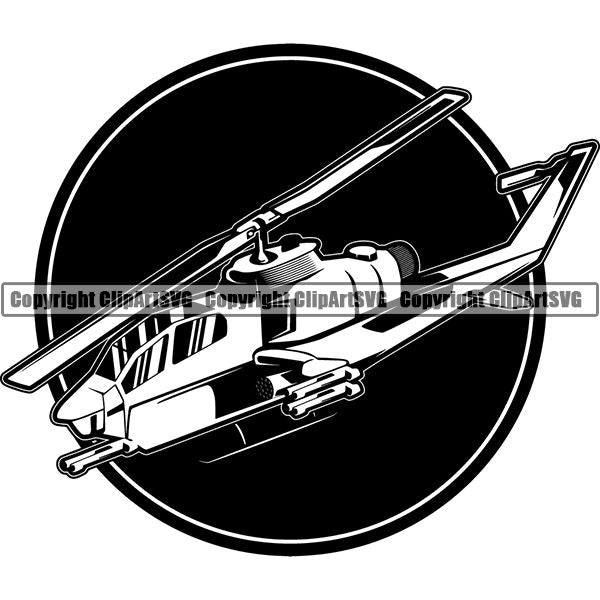 Military Weapon Helicopter ClipArt SVG