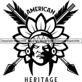 Native American Indian Logo ClipArt SVG