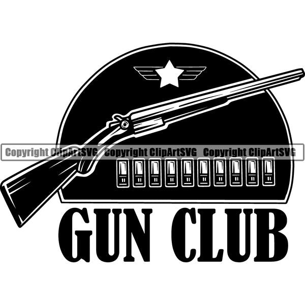 Military Weapon Gun Logo ClipArt SVG