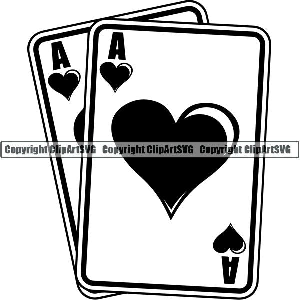 Game Poker Card Aces Pocket ClipArt SVG