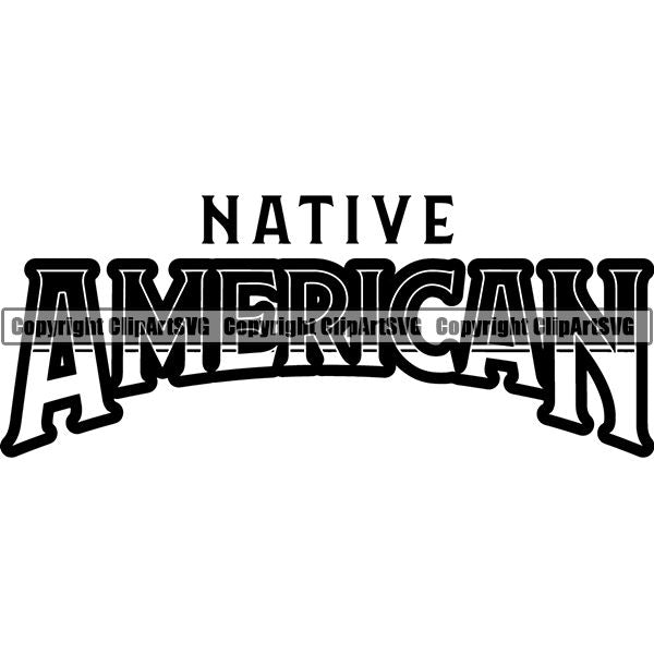 Native American Indian Text ClipArt SVG