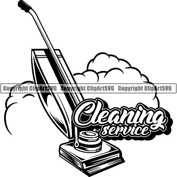Maid Cleaning Service Housekeeping Housekeeper Logo ClipArt SVG