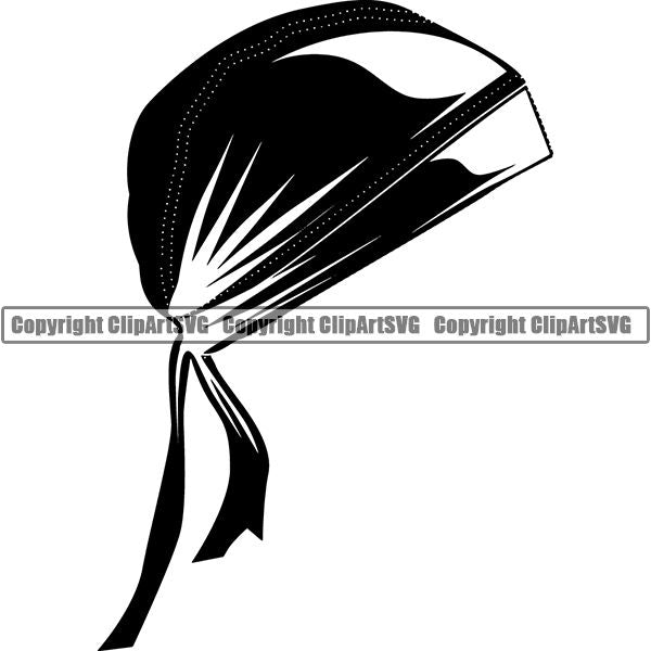 Motorcycle Bike Chopper Skull Cap Hat ClipArt SVG