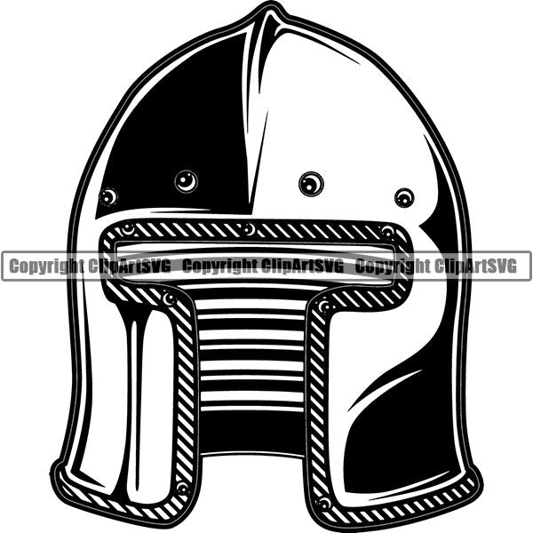 Spartan Warrior Gladiator Mask ClipArt SVG