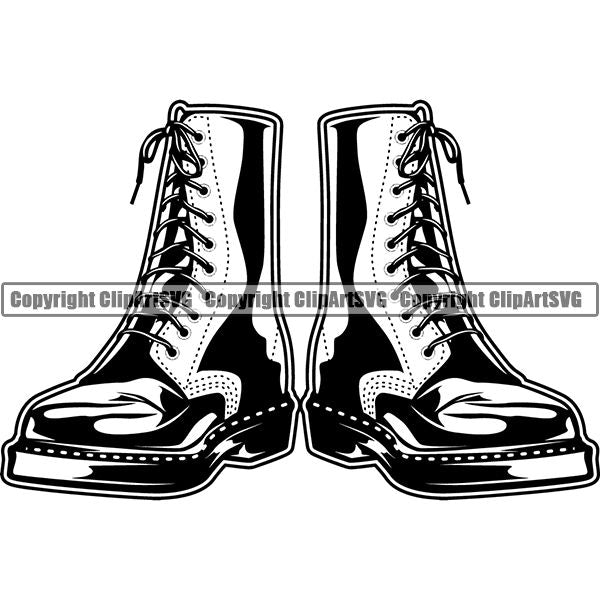 Military Weapon Soldier Boots ClipArt SVG