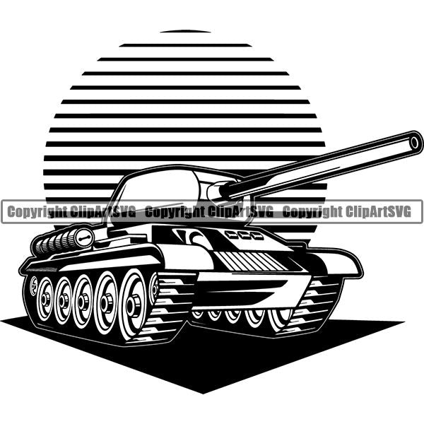 Military Weapon Vehicle Tank ClipArt SVG