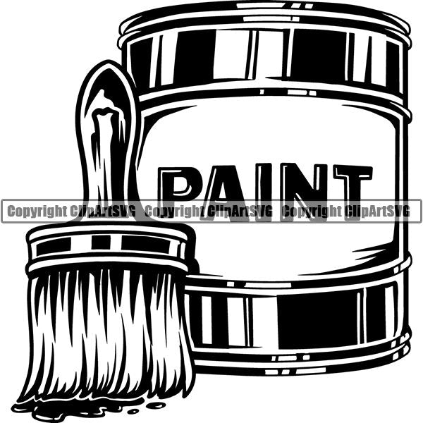 Paint Can Metal - Tin Opener Clipart Black And White , Free Transparent  Clipart - ClipartKey