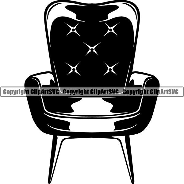 House Furniture Chair ClipArt SVG
