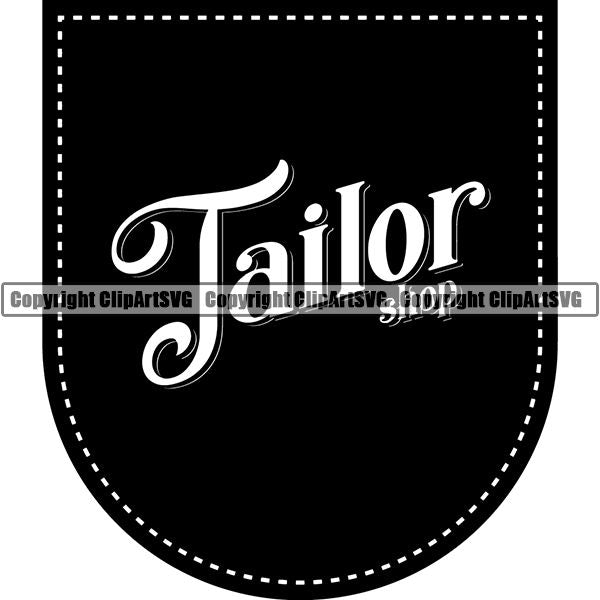 Tailor Seamstress Alterations Logo ClipArt SVG