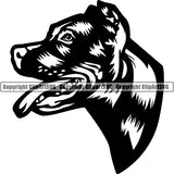 Pit Bull Dog Breed Head Face ClipArt SVG 001