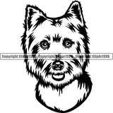 West Highland White Terrier Dog Breed Head Face ClipArt SVG 002