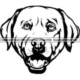 Labador Retriever Dog Breed Head Face ClipArt SVG 001