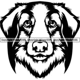 Leonberger Dog Breed Head Face ClipArt SVG 002