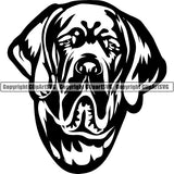 Great Dane Dog Breed Head Face ClipArt SVG 010