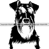 Schnauzer Dog Breed Head Face ClipArt SVG 010
