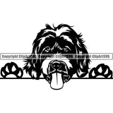 Labradoodle Peeking Dog Breed ClipArt SVG 003