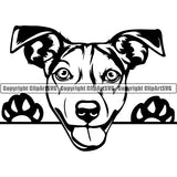 Jack Russell Terrier Peeking Dog Breed ClipArt SVG 003