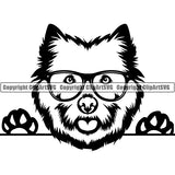 West Highland White Terrier Peeking Dog Breed ClipArt SVG 001
