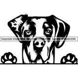 Great Dane Peeking Dog Breed ClipArt SVG 009