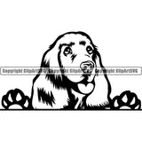 Cocker Spaniel Peeking Dog Breed Clipart SVG 003
