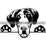 Great Dane Peeking Dog Breed ClipArt SVG 006