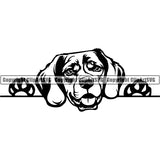 Beagle Peeking Dog Breed Clipart SVG 002