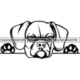 Puggle Peeking Dog Breed ClipArt SVG