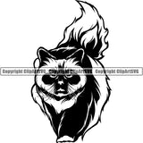 Birman Cat Head Face Clipart SVG