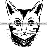 Bengal Cat Head Face Clipart SVG
