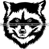 Raccoon Animal ClipArt SVG